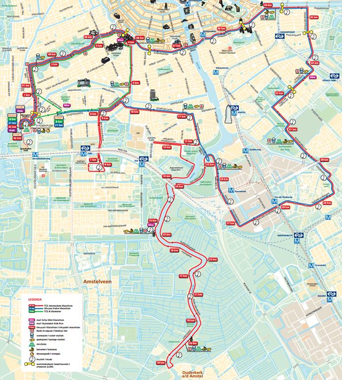 Parcours Amsterdam Marathon 2015